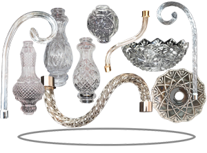Crystal lighting parts chandelier crystal parts retail and whether you need to replace a crystal chandelier part for your home or office chandelier or you are in the business of creating custom made chandeliers aloadofball Gallery